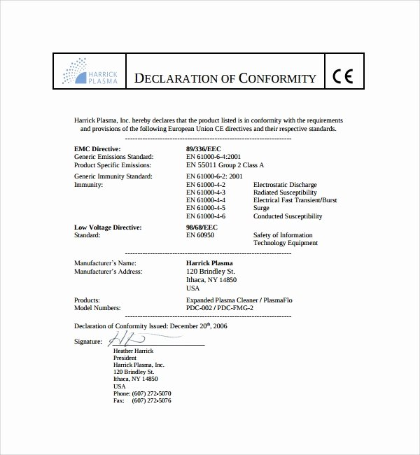 Certificate Of Conformity Template Fresh 13 Conformity Certificate Templates to Download
