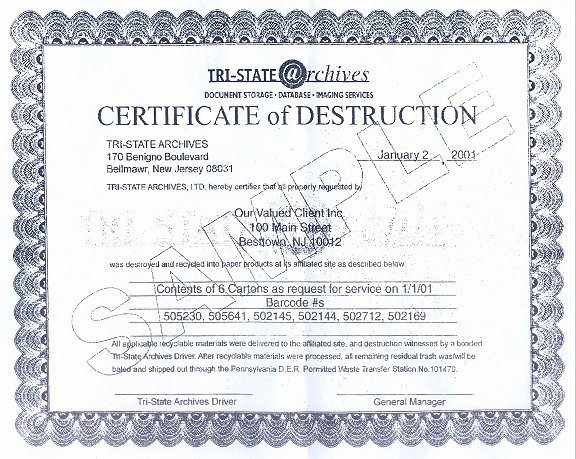 Certificate Of Destruction Template Elegant 7 Best Of Certificate Disposal form