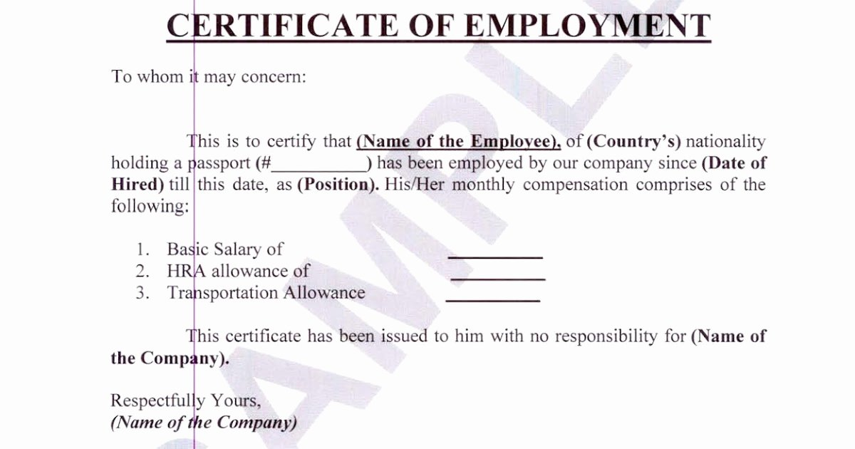 Certificate Of Employment Template Lovely Money Business People Travel and Pleasure Certificate