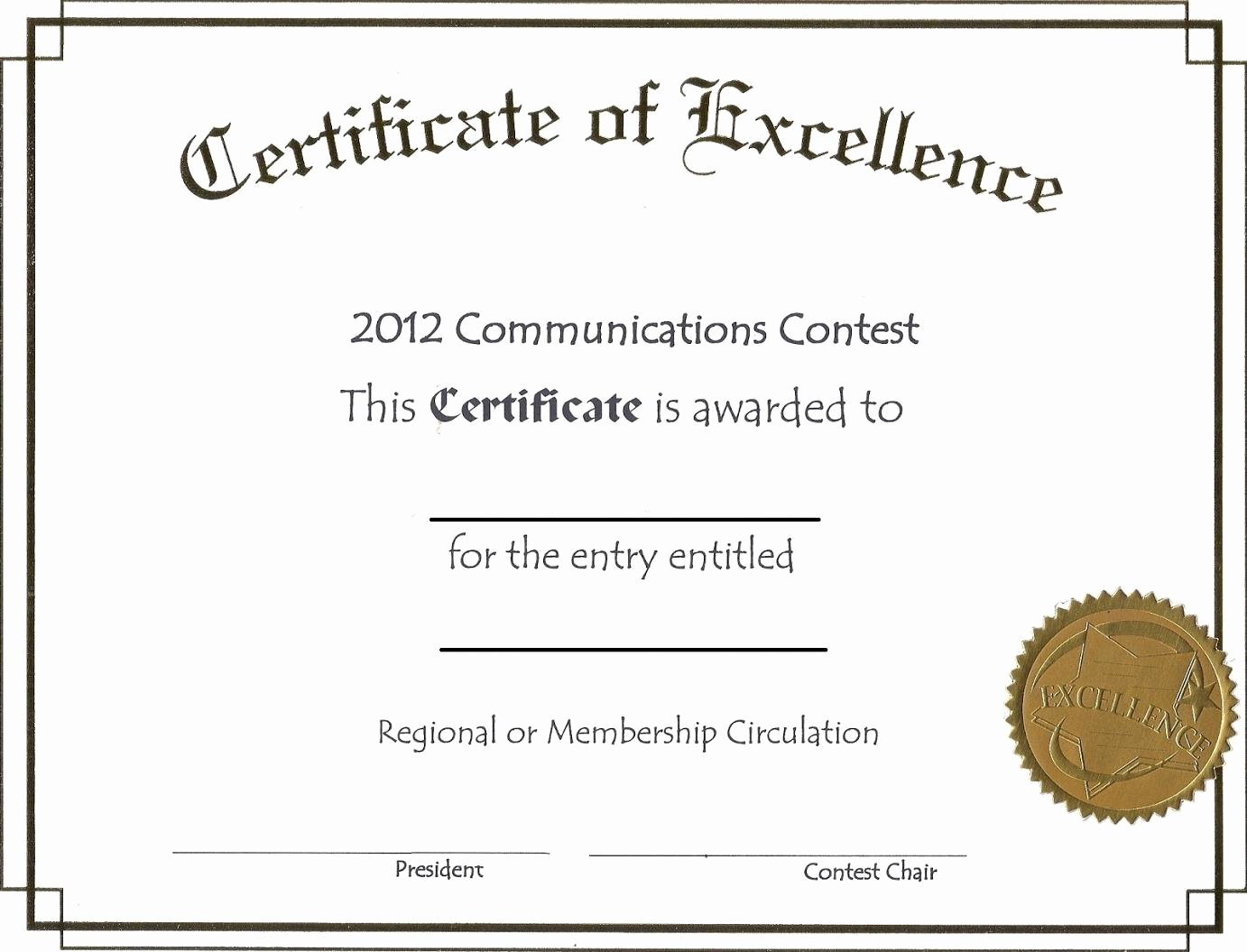 Certificate Of Excellence Template Fresh Free Editable Certificate Of Excellence Template Example