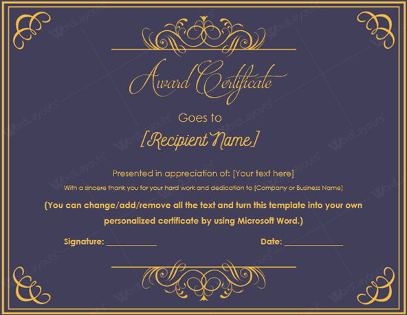 Certificate Of Excellence Template Inspirational 10 Best Award Certificate Templates for 2016