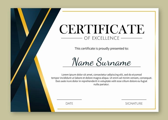 Certificate Of Excellence Template New Gold Details Certificate Of Excellence Template Download
