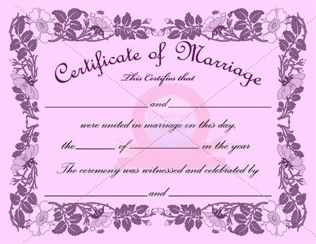 Certificate Of Marriage Template Best Of Marriage Certificate Template