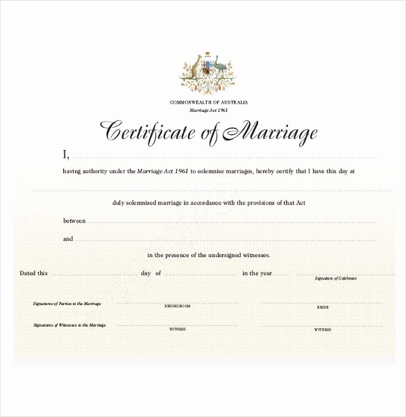 Certificate Of Marriage Template Best Of Wedding Certificate Template 22 Free Psd Ai Vector