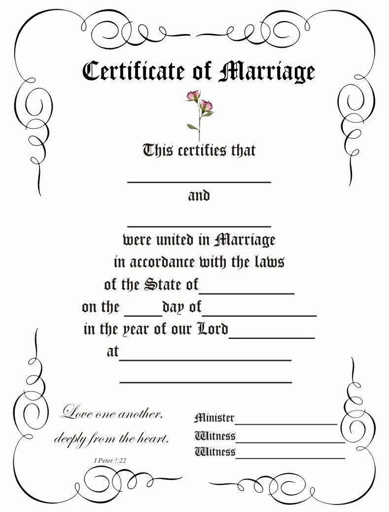 Certificate Of Marriage Template Elegant 8 Best Of Elegant Certificate Border Templates