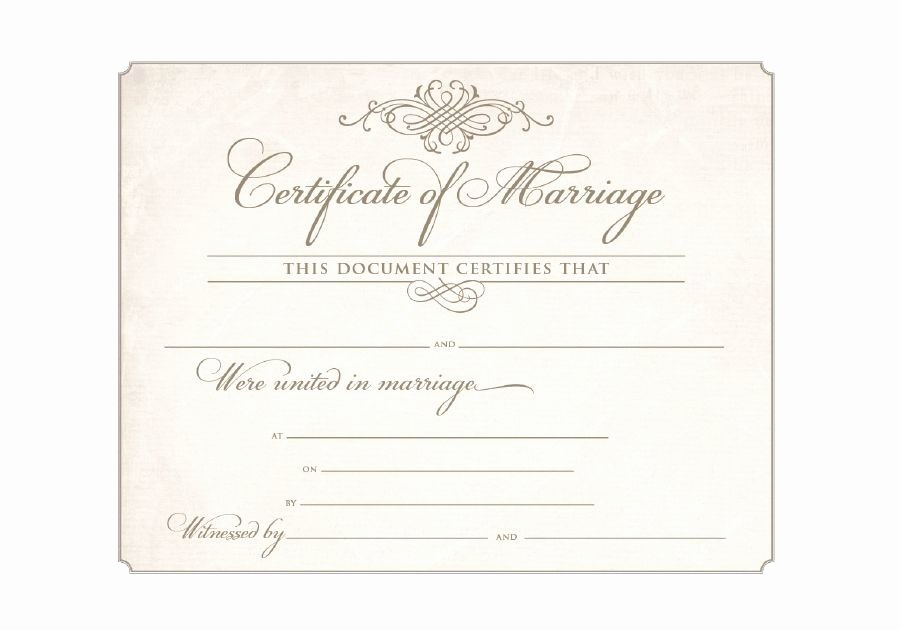 Certificate Of Marriage Template Elegant Download Blank Marriage Certificates