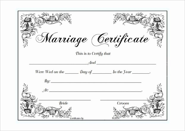 Certificate Of Marriage Template New Certificate Templates Marriage Certificate Template