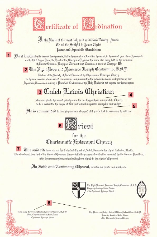 Certificate Of ordination Template Beautiful Best S Of ordained Certificate Printable and Fillable