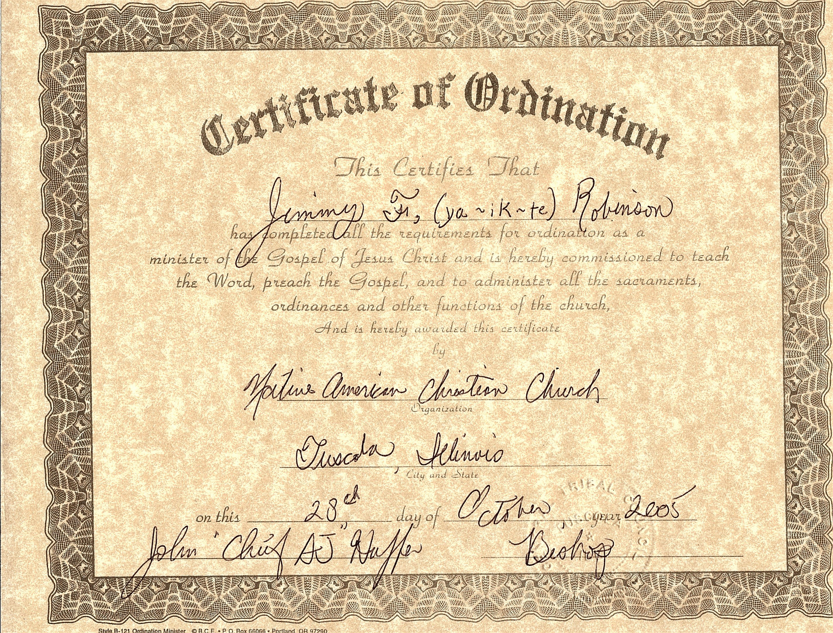 Certificate Of ordination Template Best Of Minister License Template Certificate Of License Template