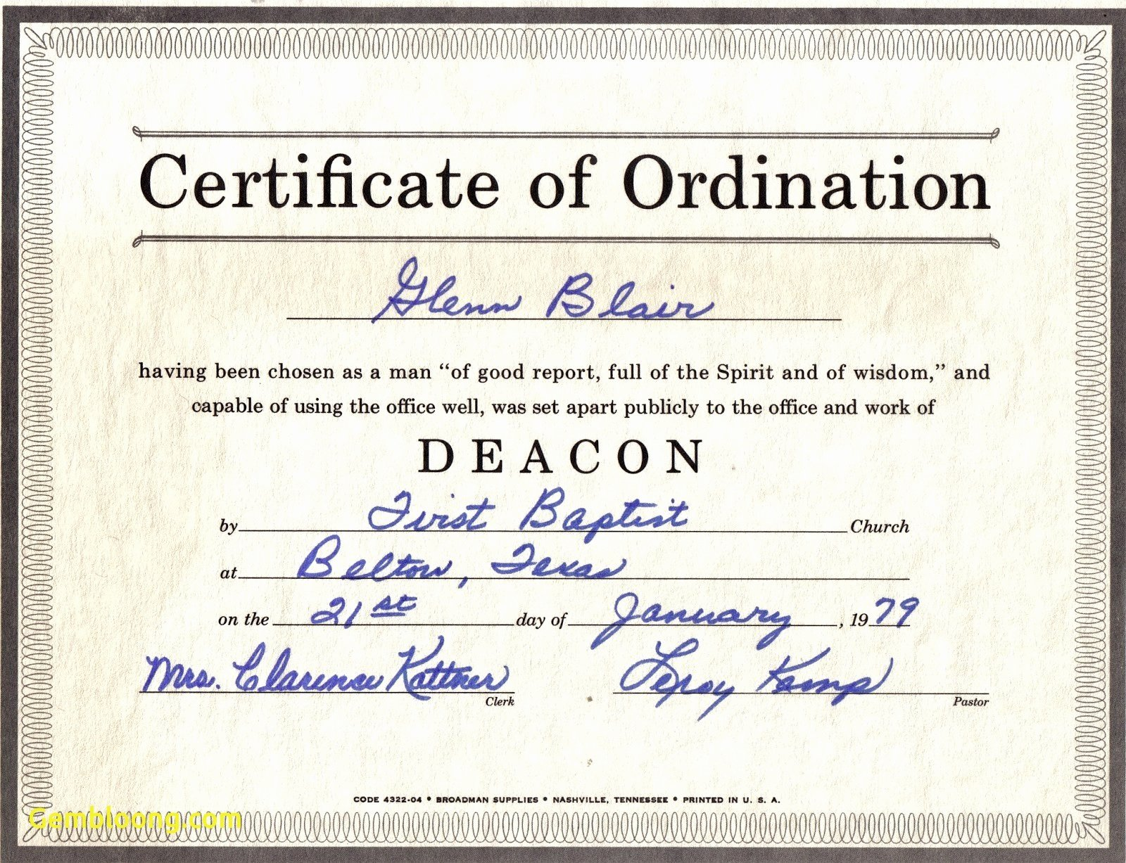 Certificate Of ordination Template Best Of ordination Certificate Template as Kfc Certificate
