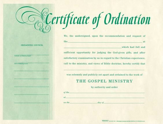 Certificate Of ordination Template Fresh Templates and Products On Pinterest