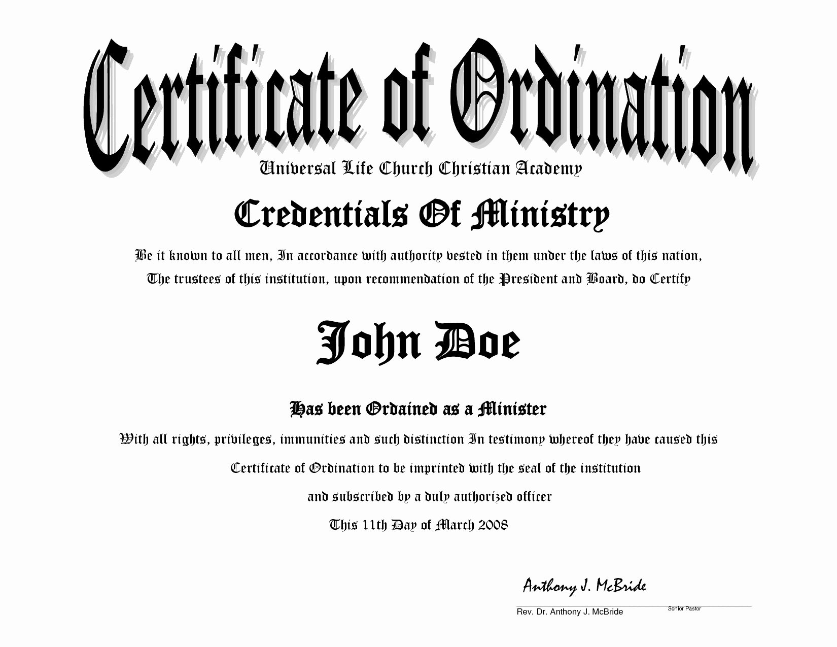 Certificate Of ordination Template Lovely Evangelist ordination Certificates Samples