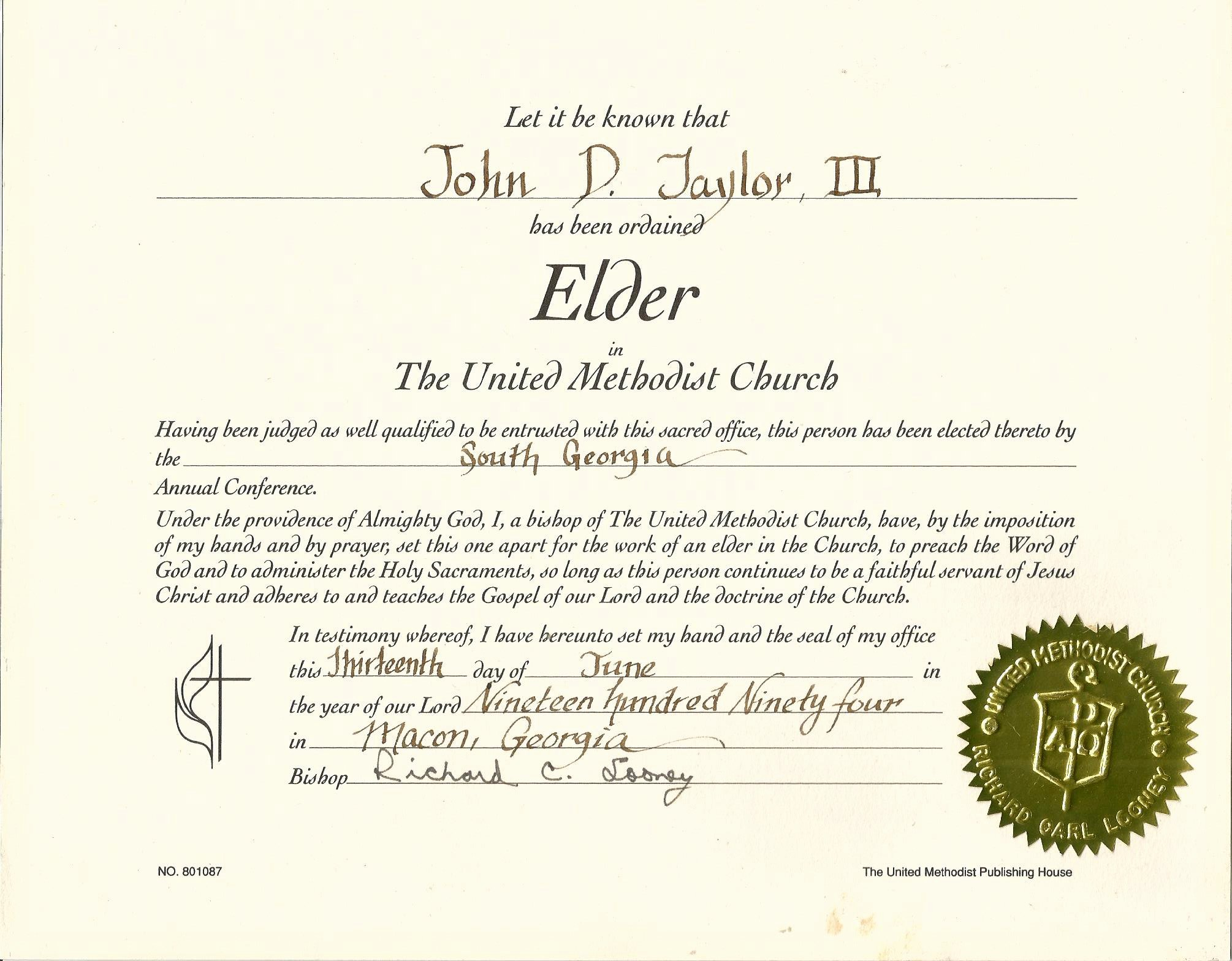 Certificate Of ordination Template Luxury Elder Certificate