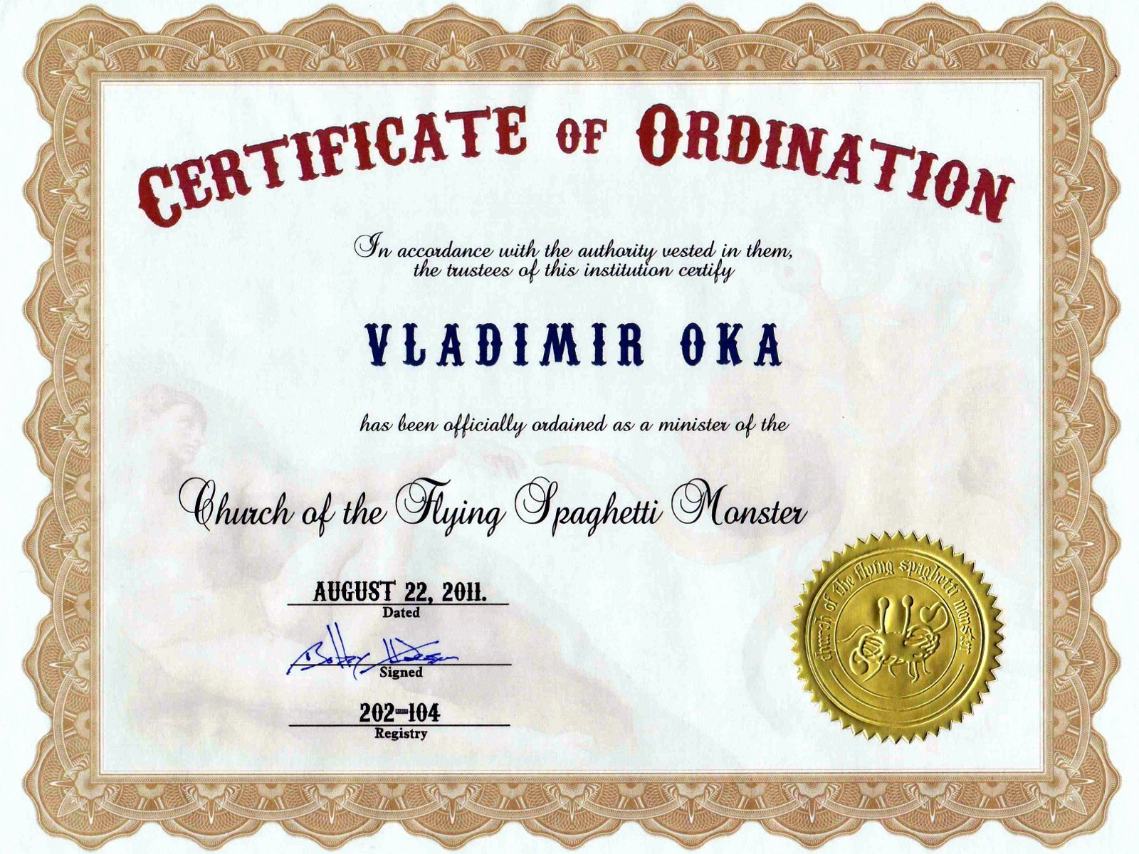 Certificate Of ordination Template New Certificate ordination for Minister
