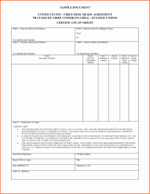 Certificate Of origin Template Awesome Blank Certificate origin Example Mughals