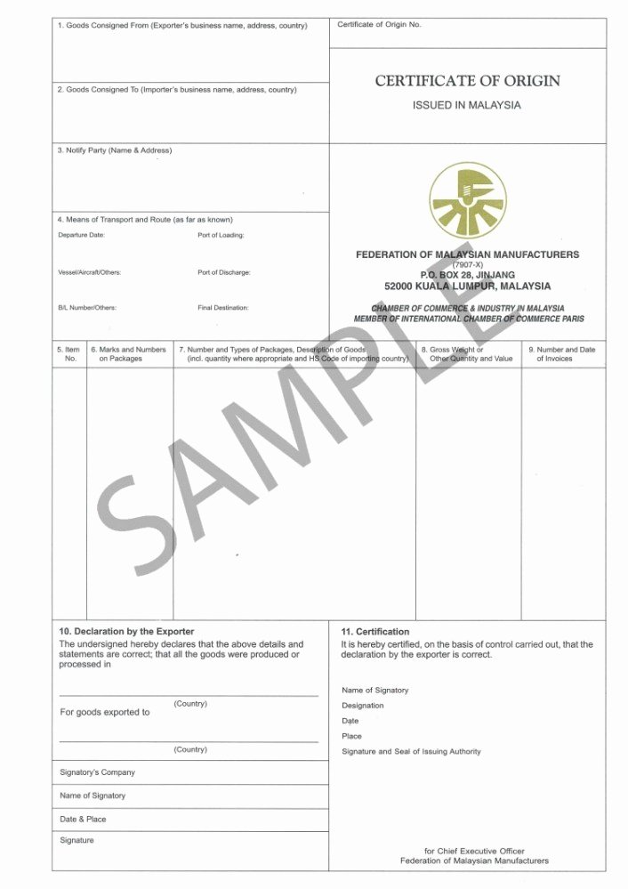 Certificate Of origin Template Inspirational What is A Certificate Of origin