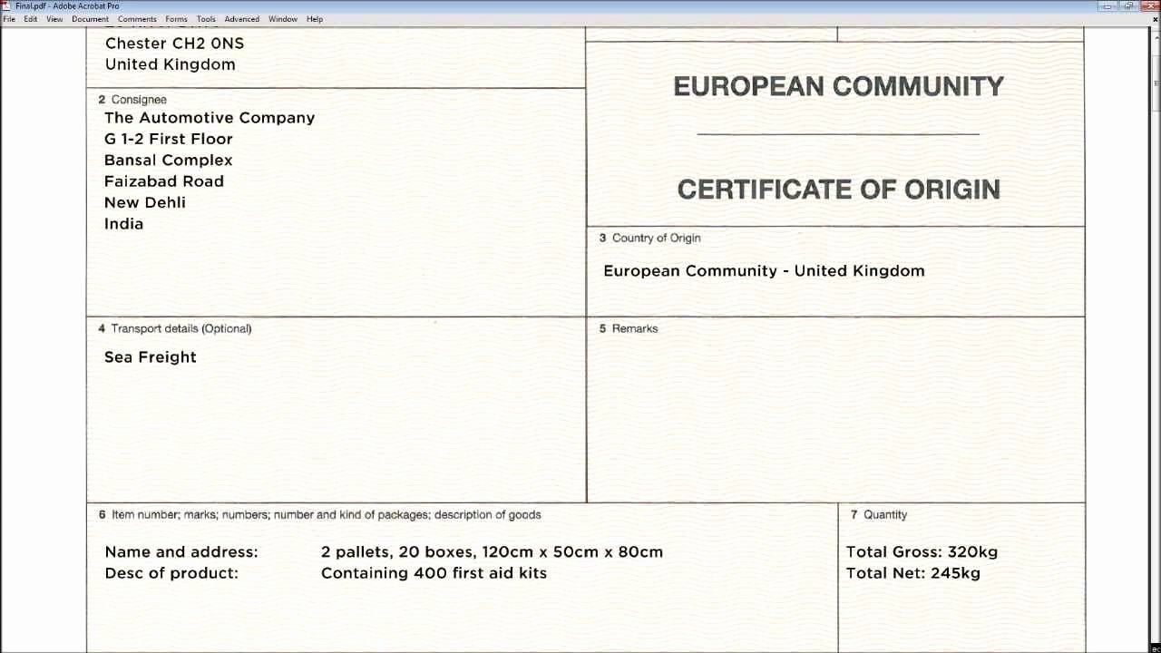 Certificate Of origin Template Unique Certificate origin Template Uk Templates Resume