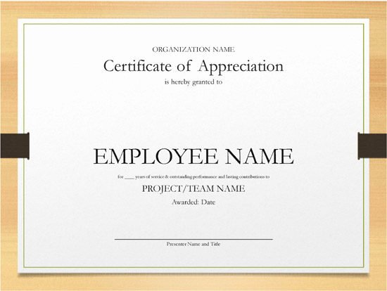 Certificate Of Service Template Fresh Years Of Service Certificate Example – Open Fice format