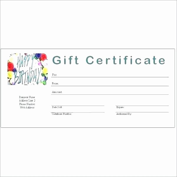 Certificate Template Google Docs Lovely Generic Gift Certificate Template Free Printable Gift