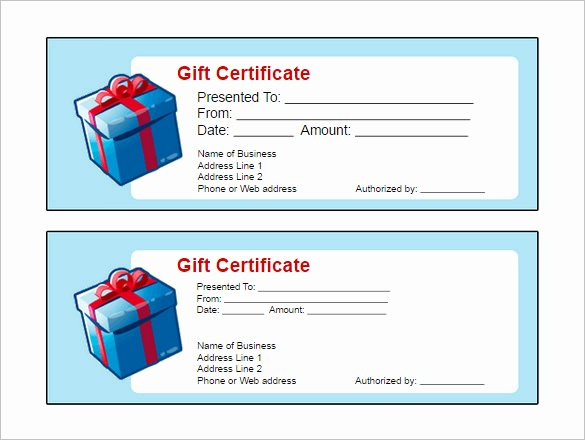 Certificate Template Google Docs New Printable Gift Certificate Template Free Google Doc