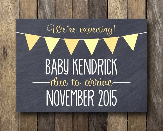 Chalkboard Baby Announcement Template Awesome Printable Pregnancy Announcement Chalkboard Pregnancy Reveal