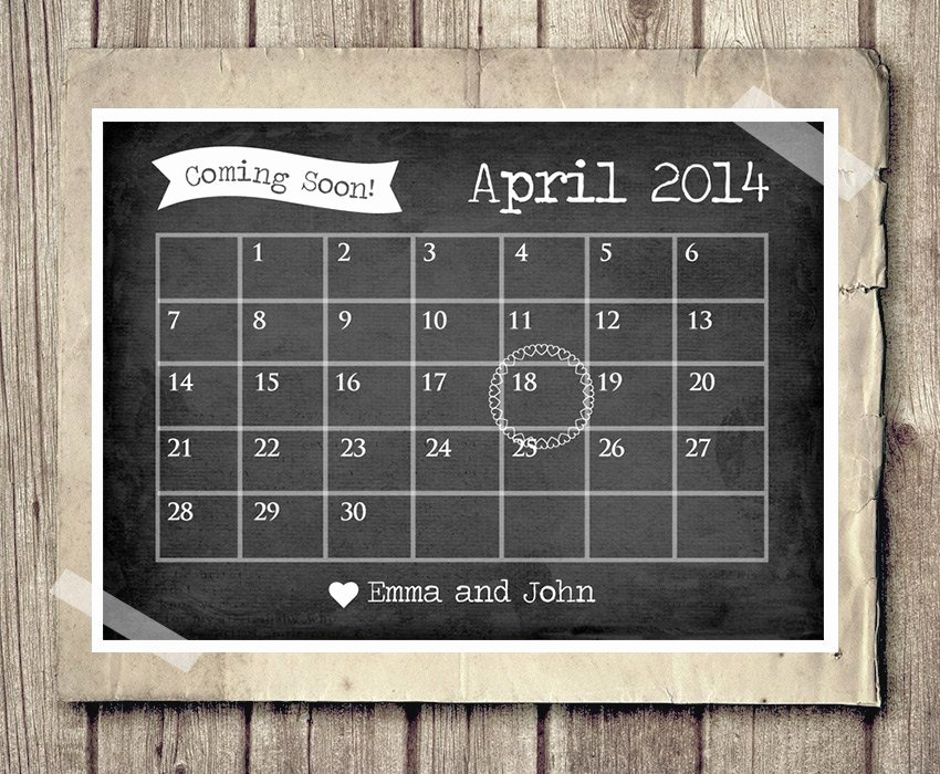 Chalkboard Baby Announcement Template Best Of Pregnancy Announcement Calendar Baby Announcement News