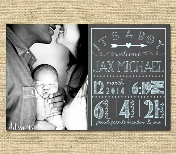 Chalkboard Baby Announcement Template Unique Best 25 Birth Announcements Ideas On Pinterest