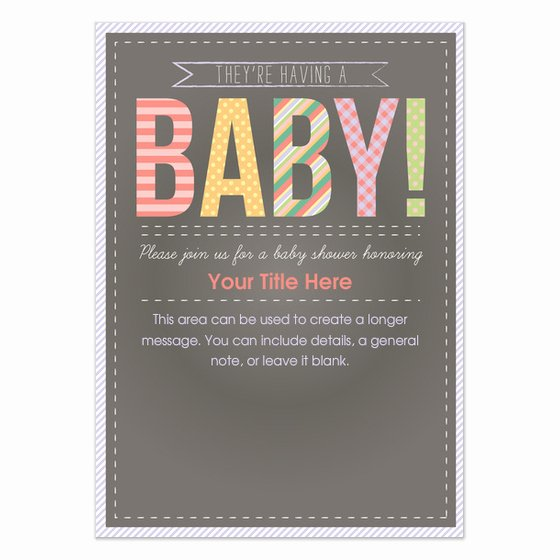 Chalkboard Baby Announcement Template Unique Chalkboard Baby Shower Invitations & Cards On Pingg