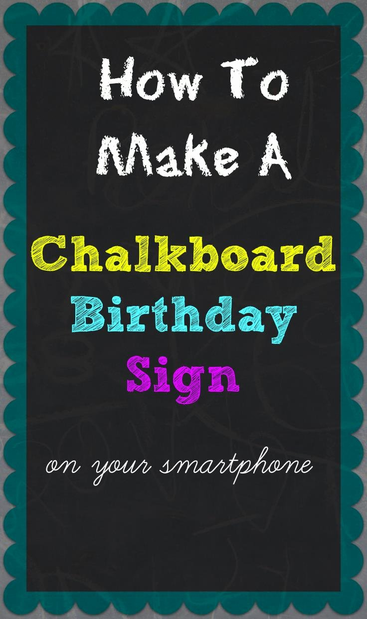 Chalkboard Birthday Sign Template Inspirational 1st Birthday Chalkboard Sign Template Free – Best Happy