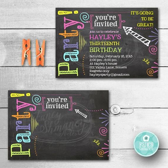 Chalkboard Birthday Sign Template Luxury Birthday Invitation Chalkboard Invitation Neon Colors