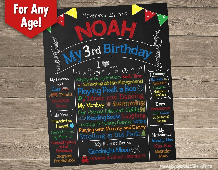 Chalkboard Birthday Sign Template New Third Birthday Chalkboard 3rd Birthday Chalkboard Birthday