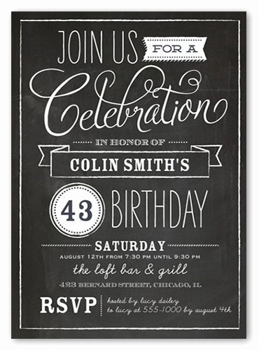 Chalkboard Invitation Template Free Best Of Chalkboard Birthday Invitation Template Free First