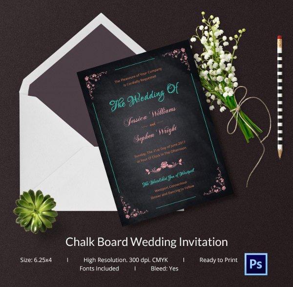 Chalkboard Invitation Template Free Elegant Chalkboard Invitation Template 45 Free Jpg Psd