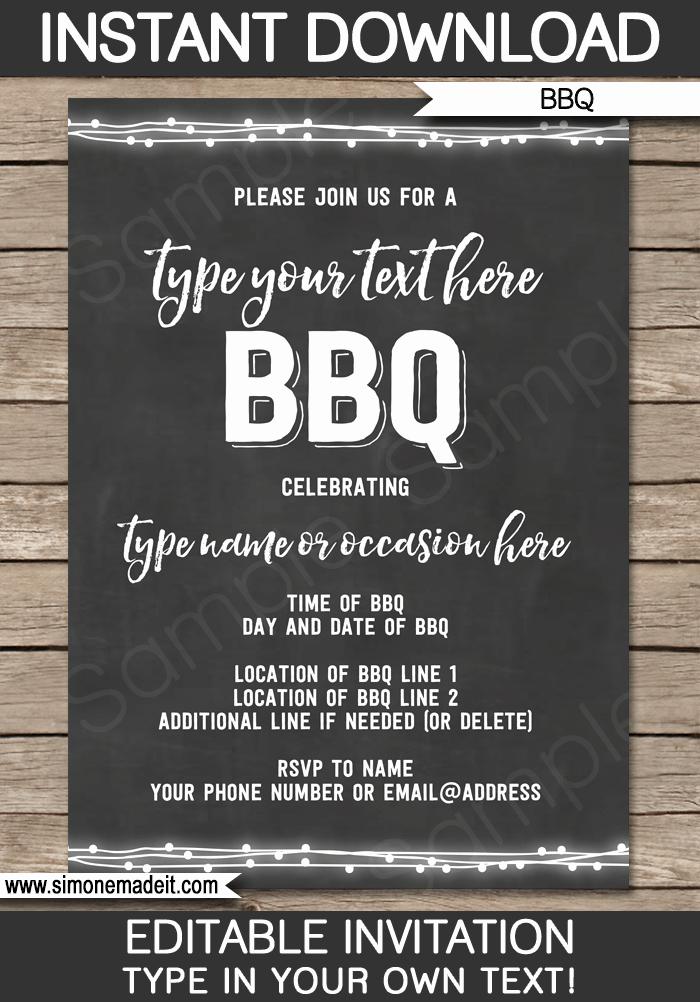 Chalkboard Invitation Template Free Inspirational Chalkboard Bbq Invitations Template