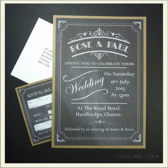 Chalkboard Invitation Template Free Luxury 26 Chalkboard Wedding Invitation Templates – Free Sample