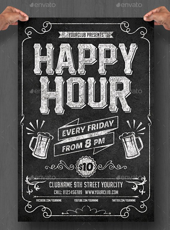 Chalkboard Poster Template Free Elegant 20 Cool Chalkboard Flyer Templates Print