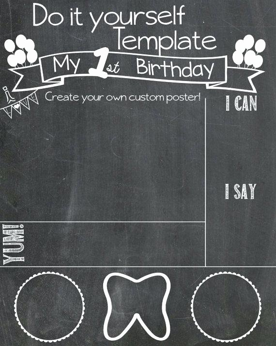 Chalkboard Poster Template Free Fresh Download now First Birthday Chalkboard Template Selected