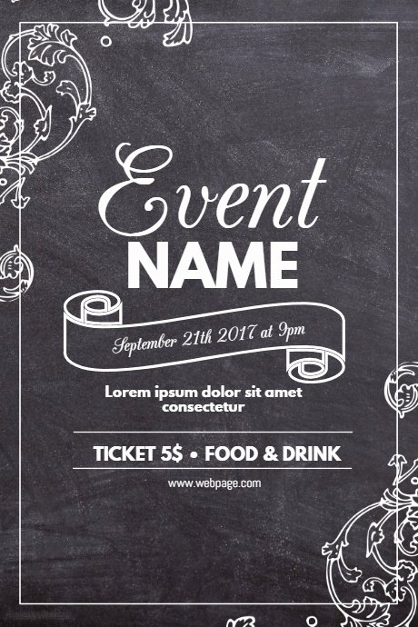 Chalkboard Poster Template Free New Copy Of Chalk event Flyer Template