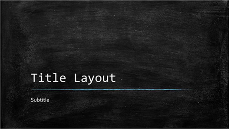 Chalkboard Template Microsoft Word Best Of Chalkboard Education Presentation Widescreen Fice