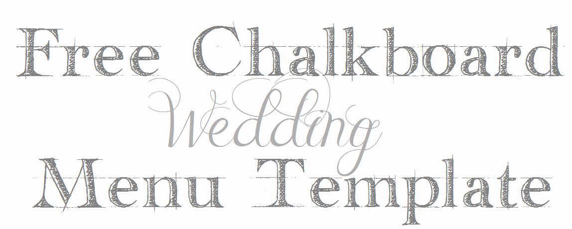 Chalkboard Template Microsoft Word Fresh Chalkboard Wedding Menu Free Template Mrs Fancee