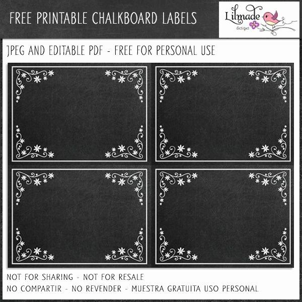 Chalkboard Template Microsoft Word Luxury Free Editable Chalkboard Labels Freebies Mygrafico