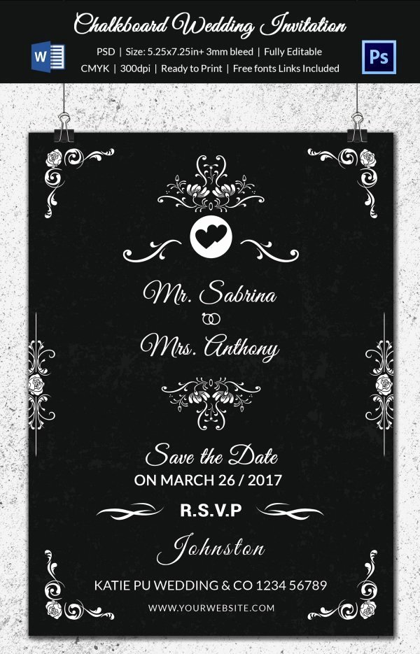 Chalkboard Template Microsoft Word Luxury Wedding Program Template 61 Free Word Pdf Psd