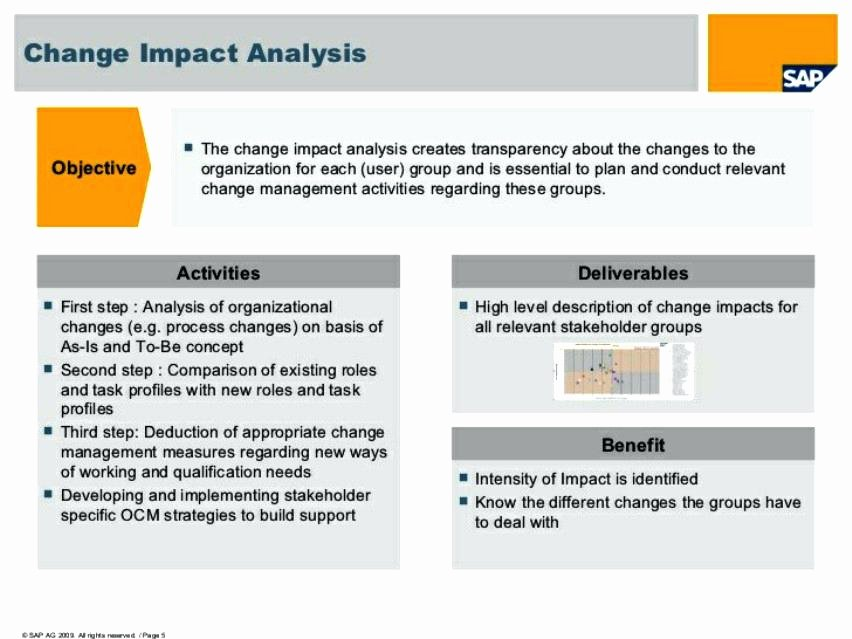 Change Impact Analysis Template Awesome Download by Change Management assessment Template