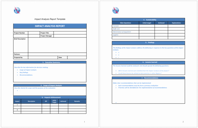 Change Impact Analysis Template New 5 Impact Analysis Templates for Word Excel and Pdf
