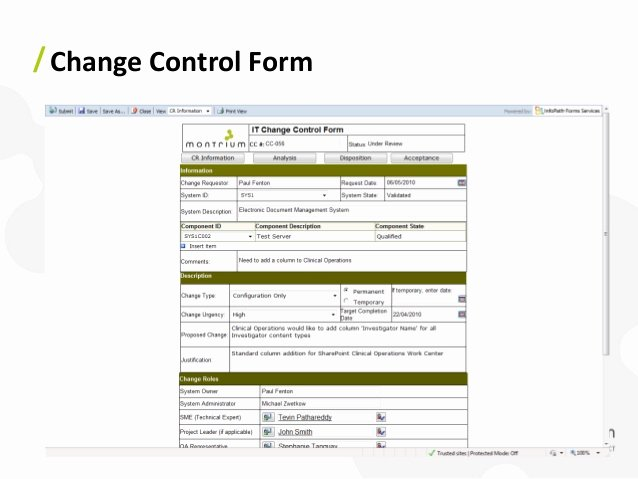 Change Management form Template Awesome Point Configuration Management – Effective Techniques