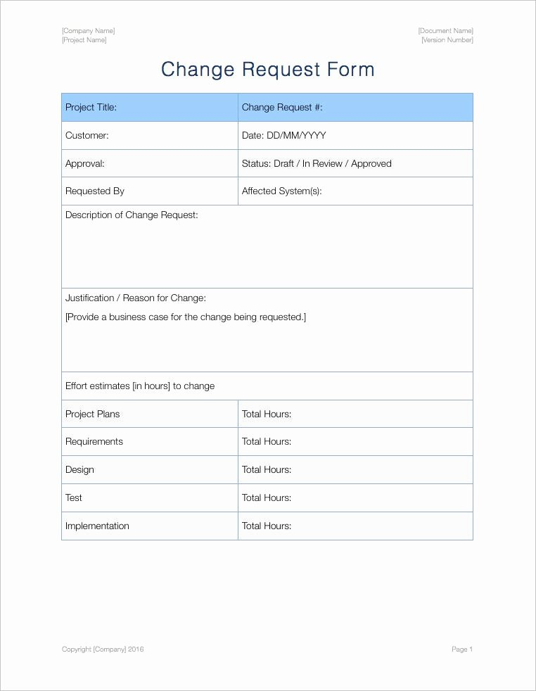 Change Management form Template Beautiful Change Management Plan Template Apple Iwork Pages