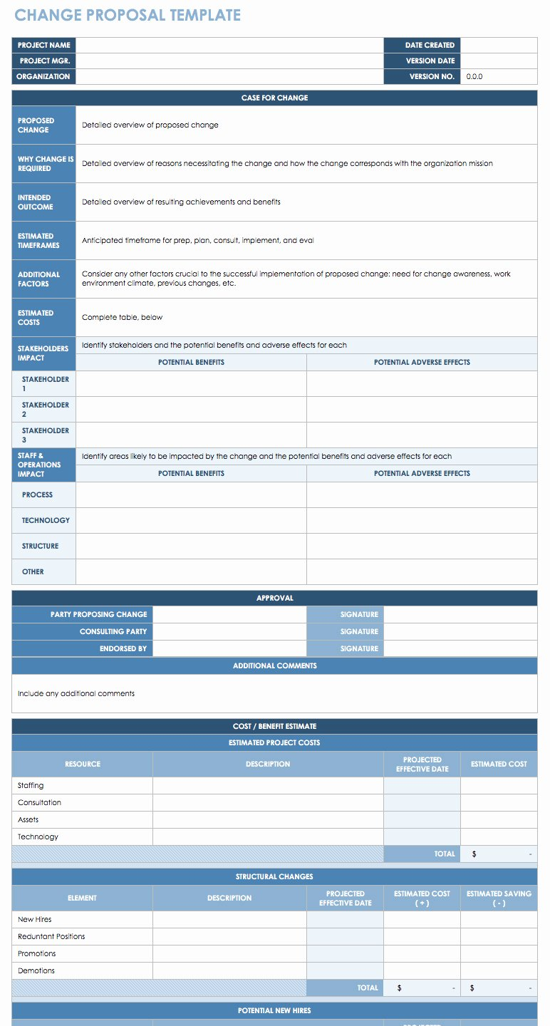 Change Management form Template New Free Change Management Templates