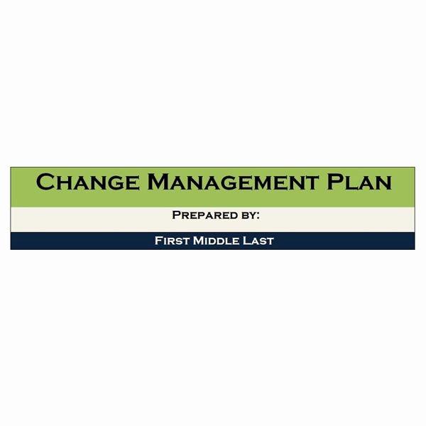 Change Management Plan Template Best Of Example Of A Change Management Project Plan Managing