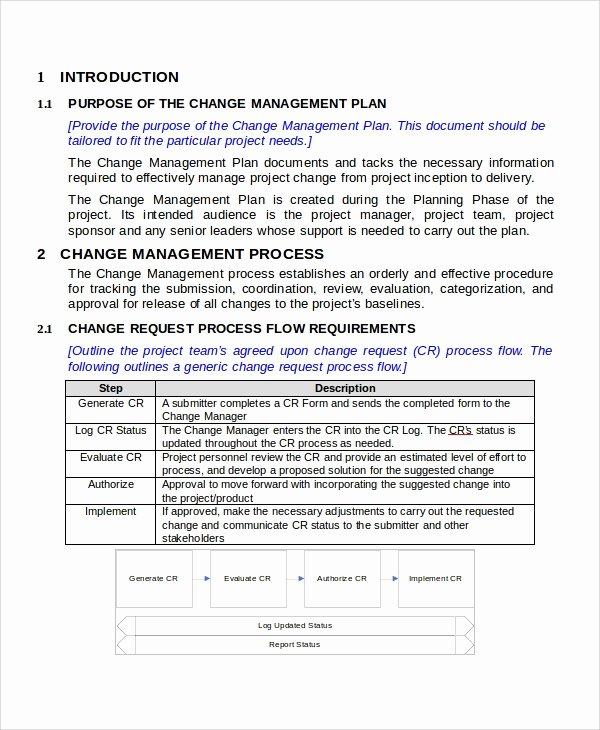 Change Management Plan Template New 10 Change Management Plan Samples