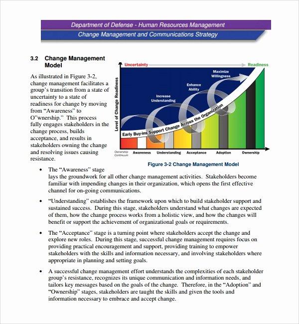 Change Management Plan Template Unique 12 Change Management Plan Templates